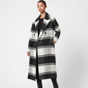 NWT All Saints Check Coat
